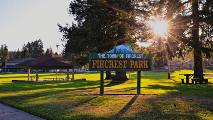 Fircrest Park Sign