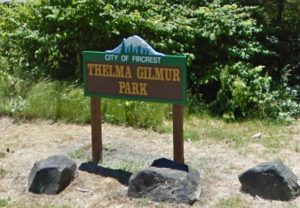 Thelma Gilmur Park Sign
