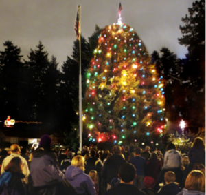 Tree Lighting at Alice Peers Park
