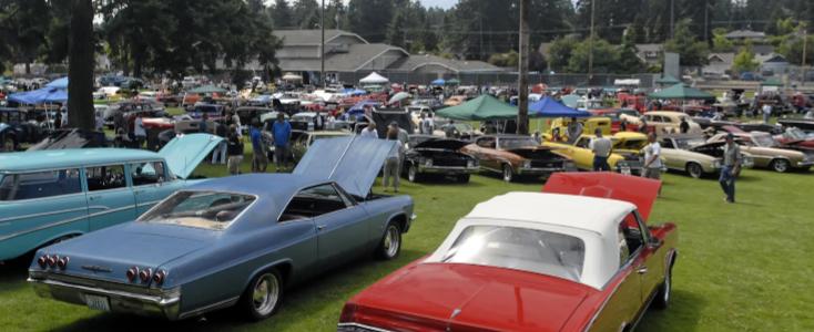 Red and Blue Pontiac GTOs