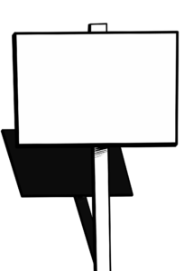 Empty Campaign Sign