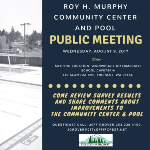 Flyer for Pool Meeting at Wainwright