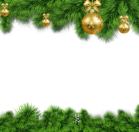 Christmas greenery with gold ornaments