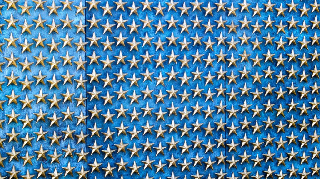 Blue wall with stars