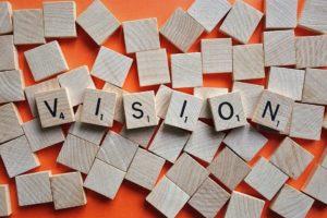Scrabble Tiles spelling Vision