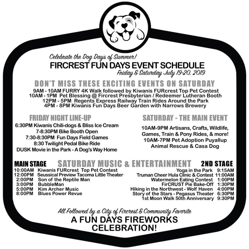 Fircrest Fun Days ~ Celebrate the Dog Days of Summer! - City