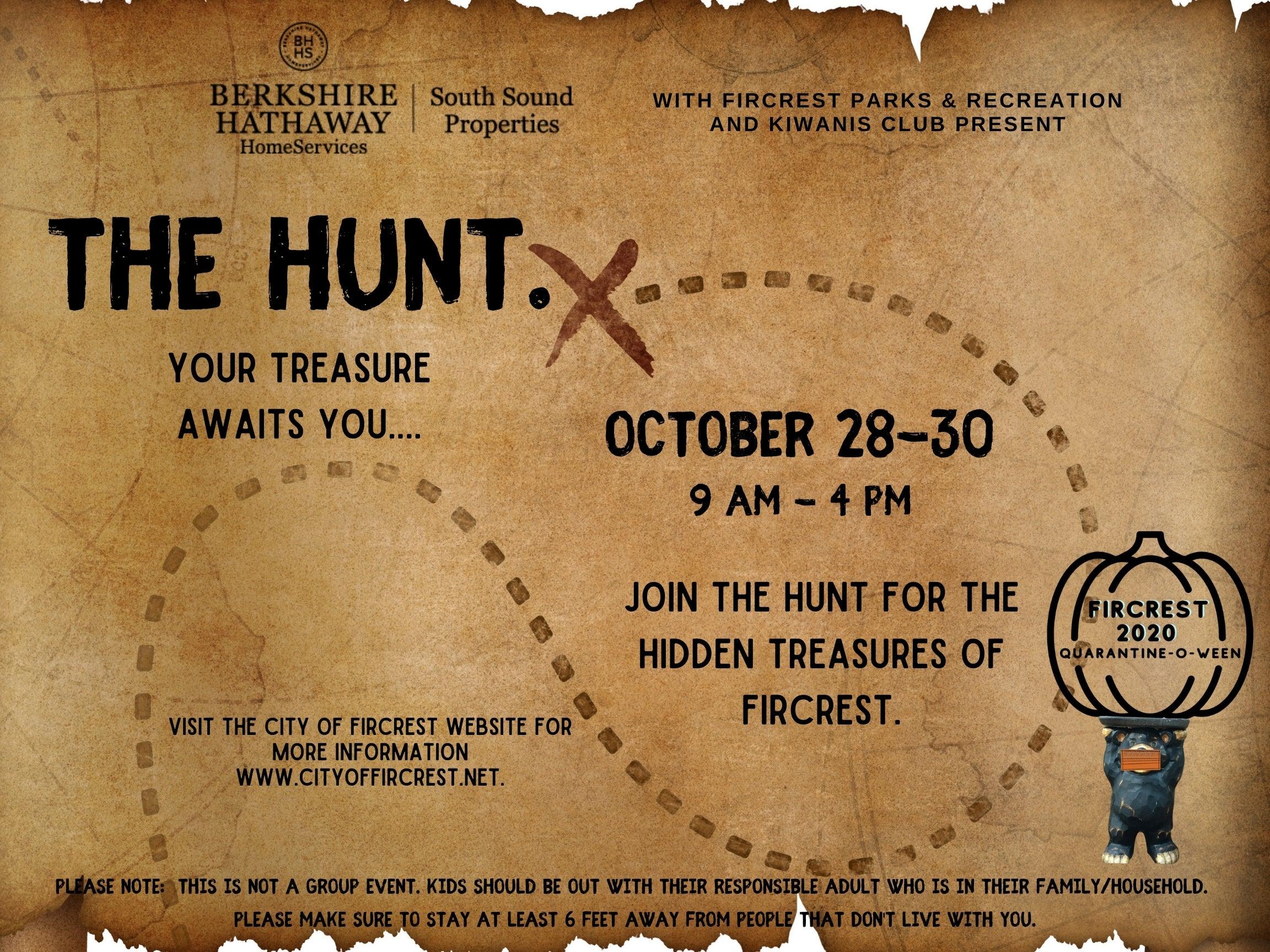 treasure hunt poster city of fircrest